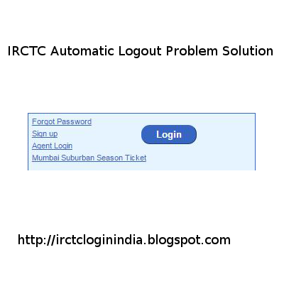 irctc logging out automatically