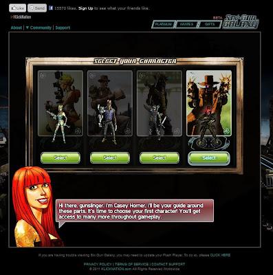 Six Gun Galaxy - Character Selection