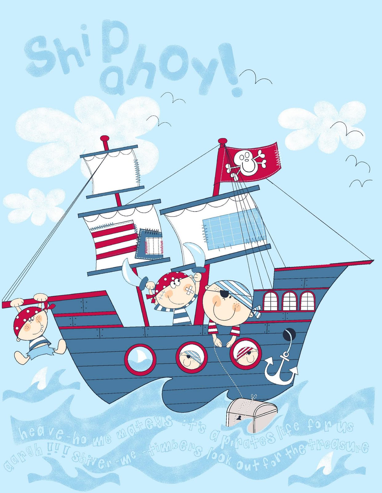 All about surface pattern textiles and graphics its that - Imagenes de barcos infantiles ...
