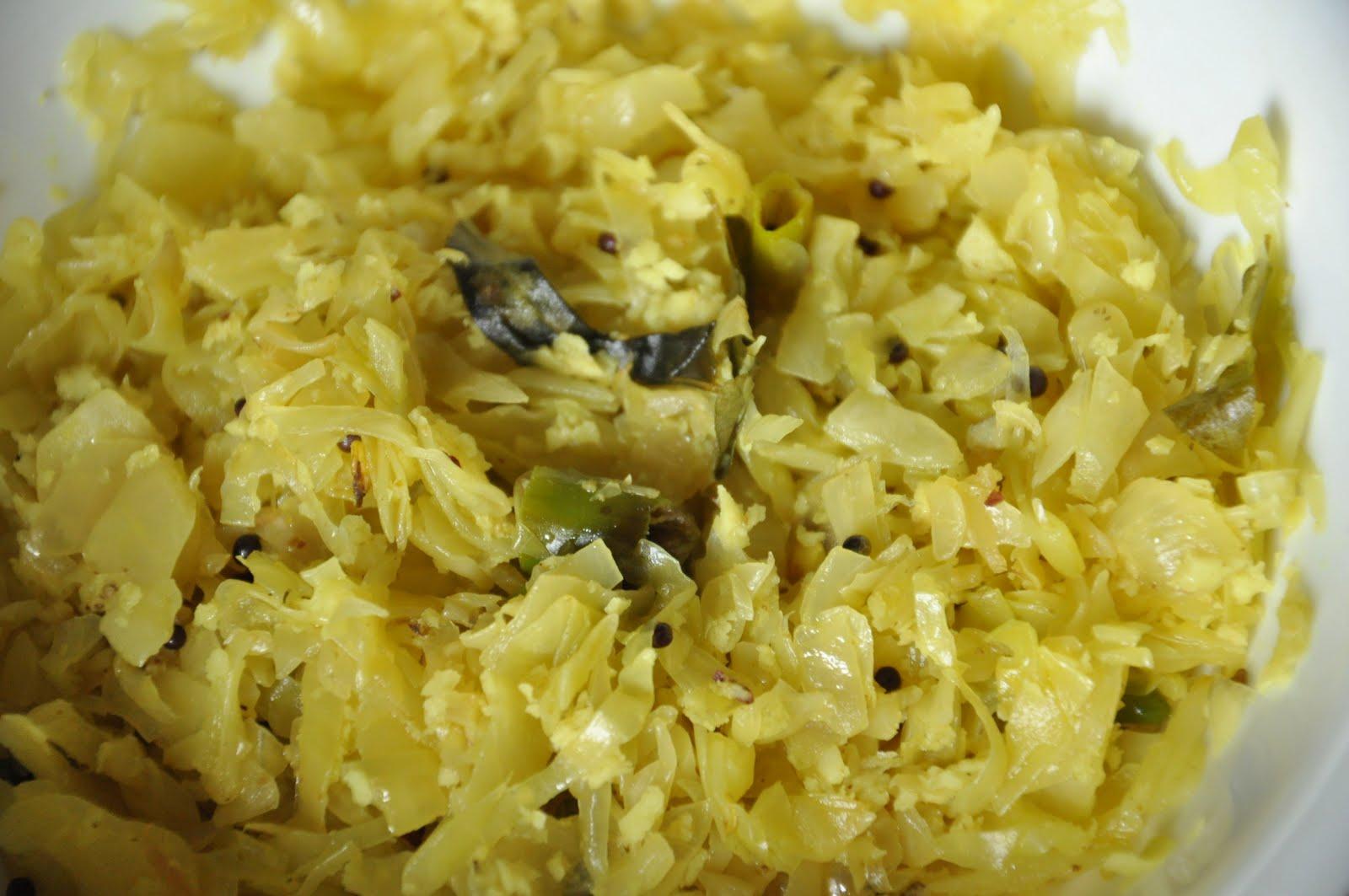 Keralaportico kerala special cuisine cabbage thoran for Cuisine kerala