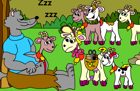 Tesoro Infantil: El lobo y los siete cabritillos - Hermanos Grimm