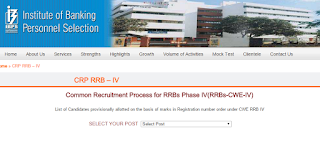 IBPS RRB Selection list