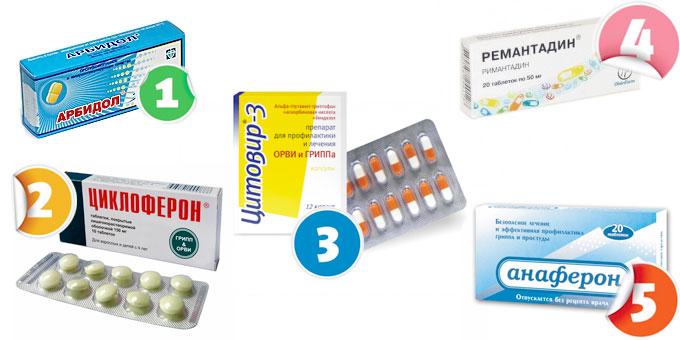 Арбидол, Циклоферон, Цитовир-3, Ремантадин, Анаферон