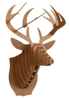 Room to grow faux taxidermy trend or disaster - Cardboard deer mount ...