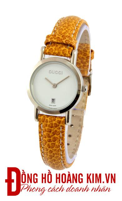 Đồng hồ nữ dây da giá rẻ Gucci