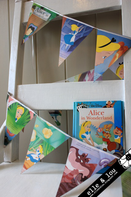 elle and lou alice in wonderland bunting decor