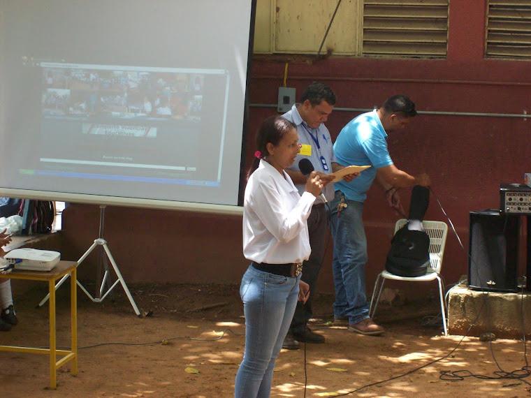 Lcda. Rosa Araujo en apertura del acto