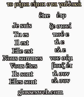 είμαι στα γαλλικά