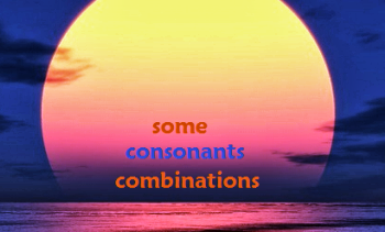 Consonant combinations