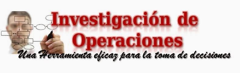 Investigación de Operaciones UNEFM