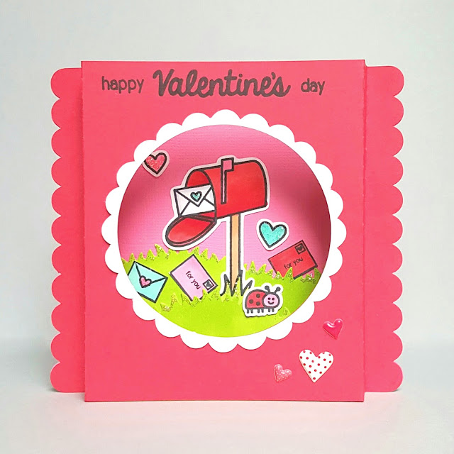 Sunny Studio Stamps: Sending My Love Valentine's Day card by Lenae.