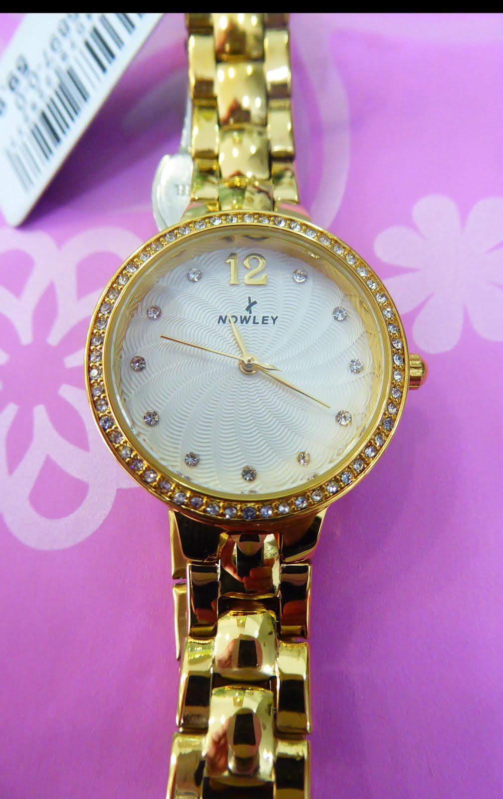 Reloj Nowley, acero dorado libre de niquel