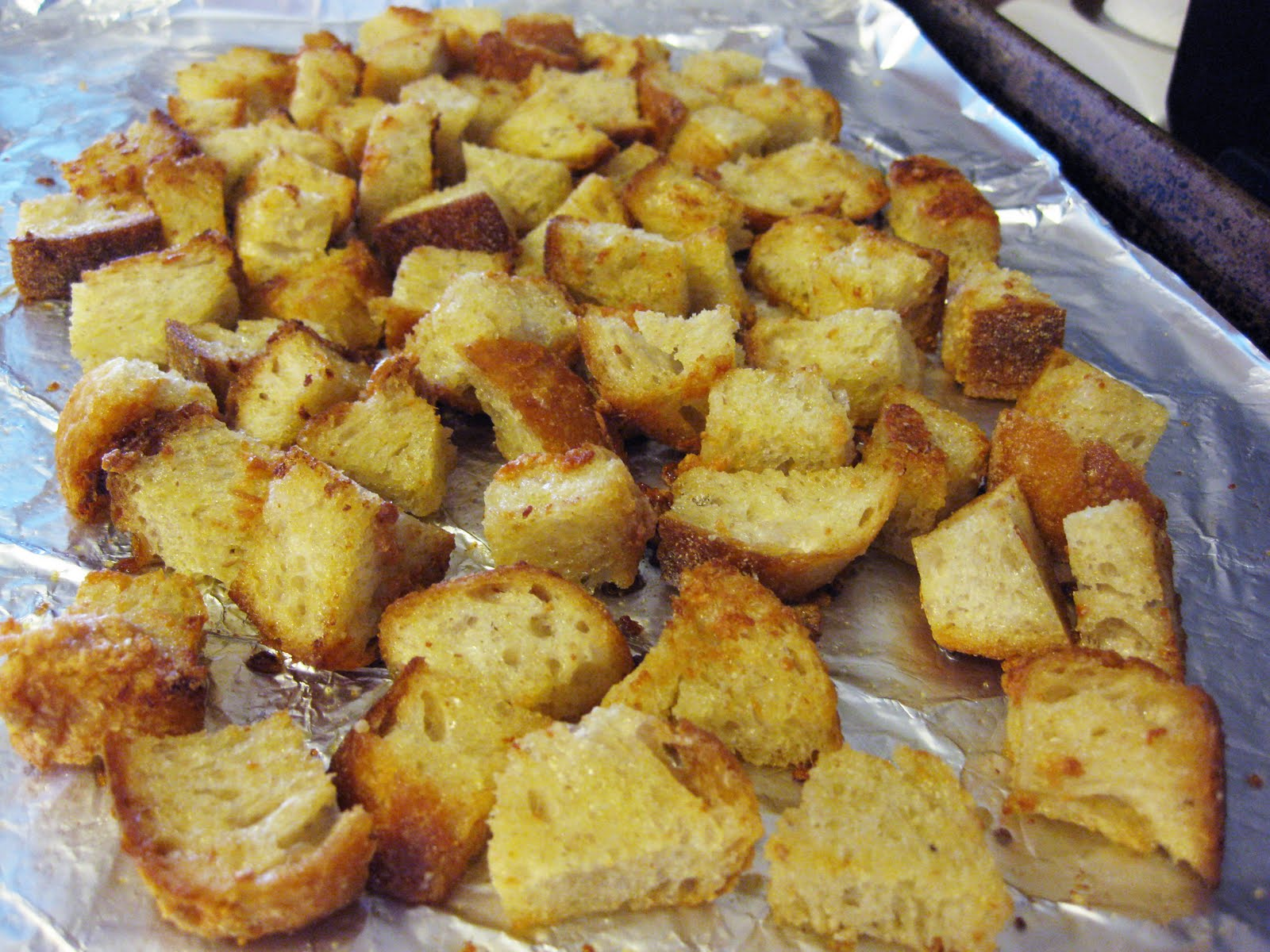 Homemade Sourdough Garlic Butter Croutons Recipes — Dishmaps