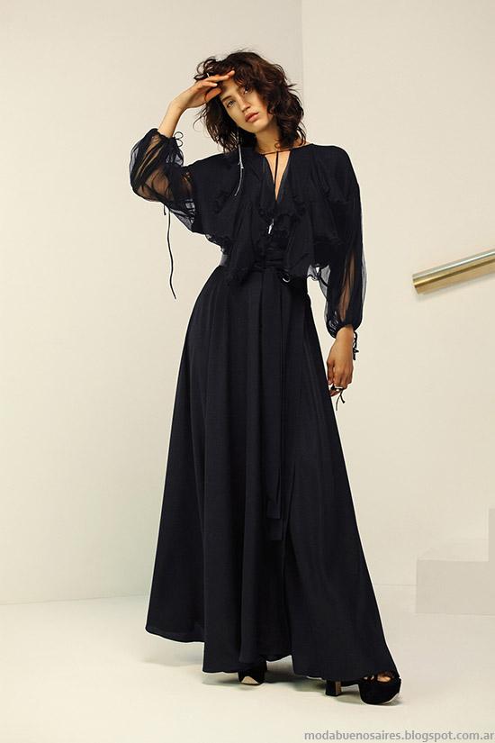 Moda primavera verano 2016 vestidos largos María Cher.