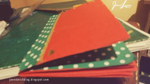 Manualidad Scrapbook navideño