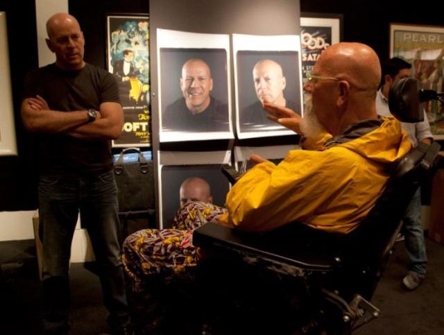Bruce Willis sin maquillaje