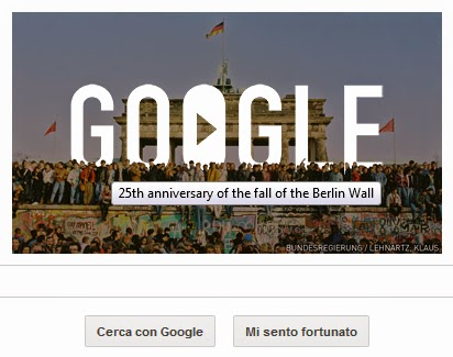 Caduta del Muro di Berlino, le stupende immagini nel Doodle