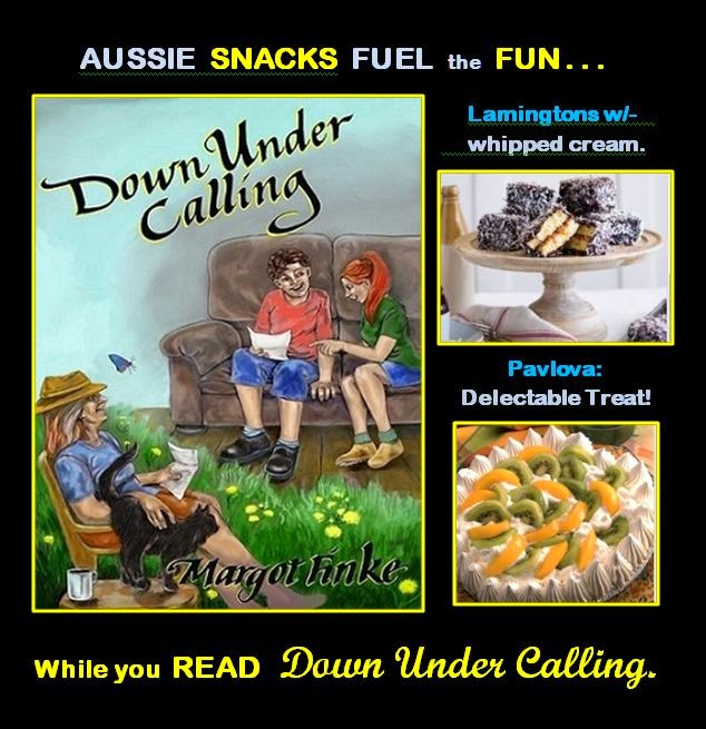 READ Down Under Calling  -- while enjoying Aussie SNACKS!