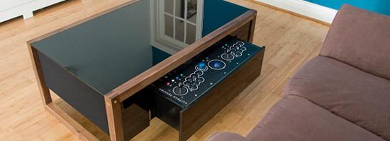 Table de salon arcade gaming micougnou for Quoi mettre sur une table basse