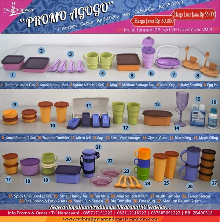 Promo AGOGO Tulipware : 25 - 29 November 2014