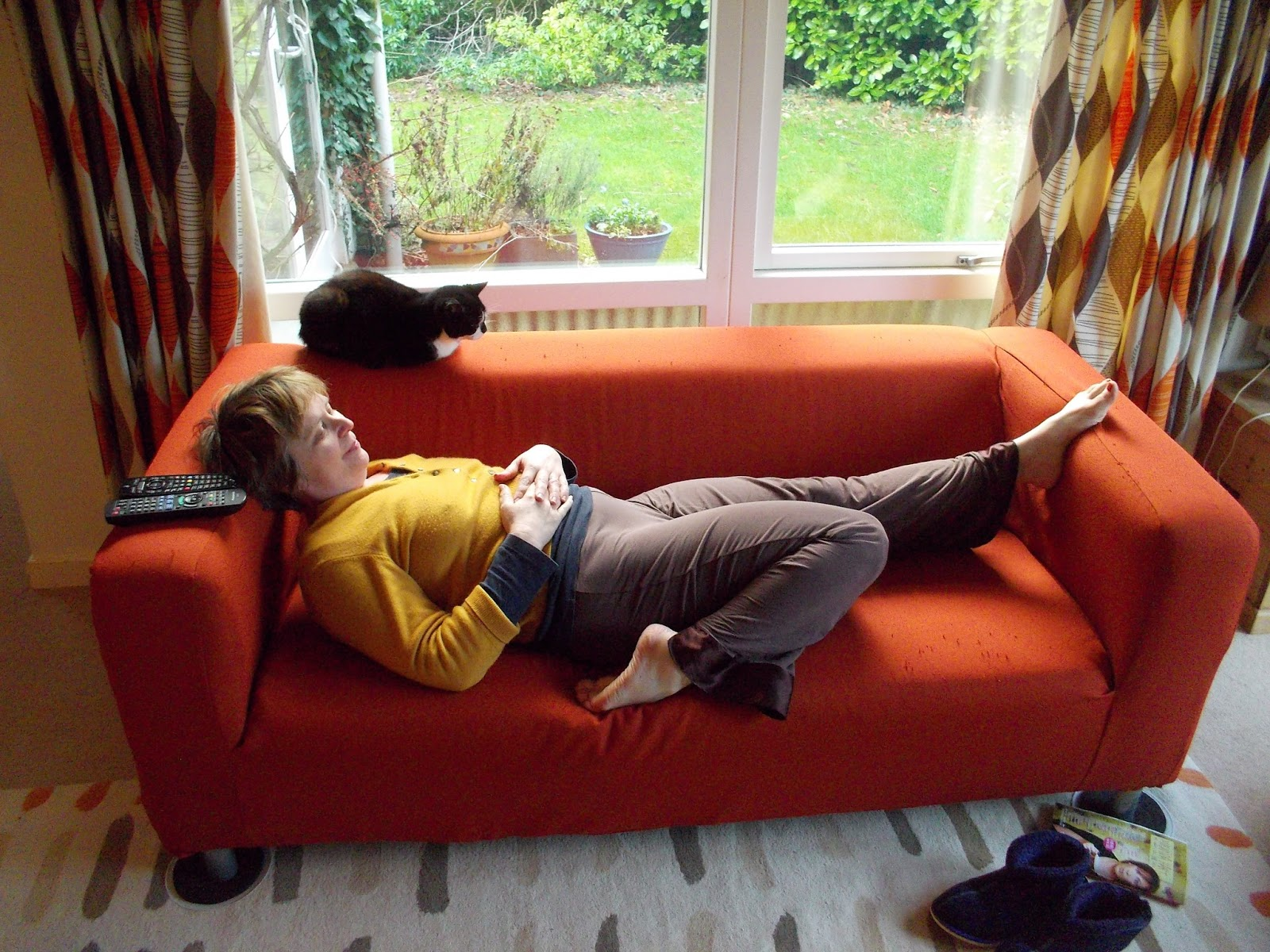 sofa yoga be a couch potato