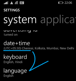 change Display Language in Windows Phone 8.1