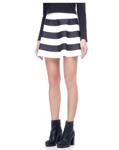 falda de rayas stradivarius