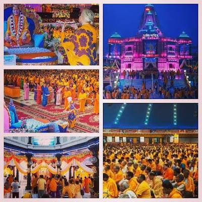 Devoting to Kripalu Maharajji during Guru Poornima 2015