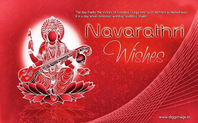 Navarathri Greetings with Goddess Shakti images