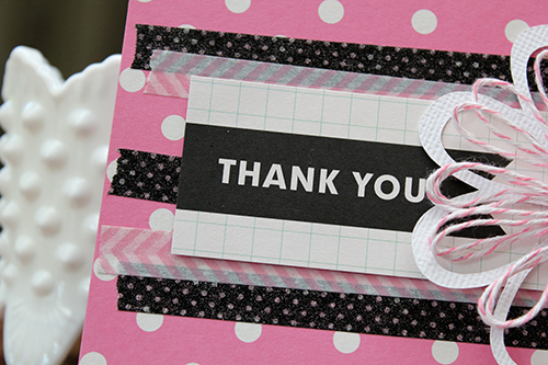 Thank You Card and Twine Flower by Juliana Michaels detail