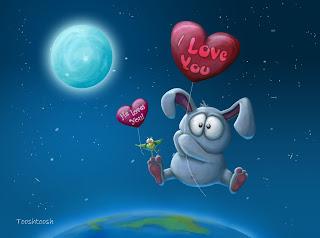 Bunny In Love Love Wallpaper
