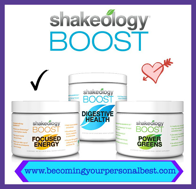 Beachbody Shakeology Boost, Power Greens Boost, Digestive Health Boost, Focused Energy Boost