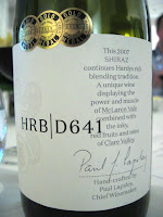 Label photo of Hardys HRB Shiraz D641 2007 from McLaren Vale & Clare Valley