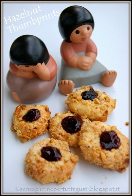 hazelnut thumbprints ovvero fossette alle nocciole senza glutine
