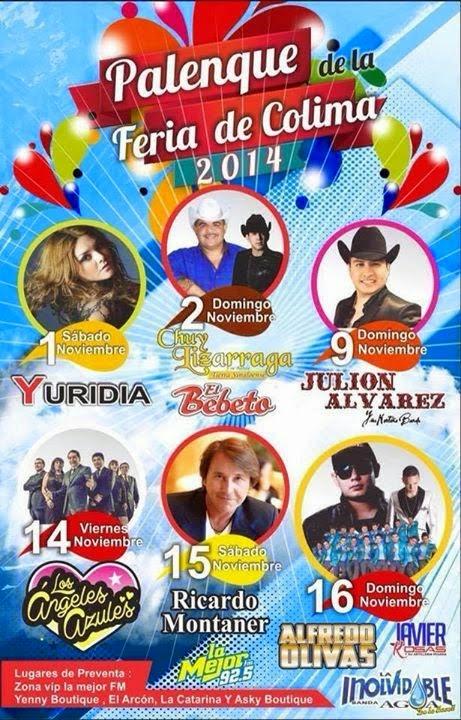 Artistas Feria colima 2014 palenque boletos
