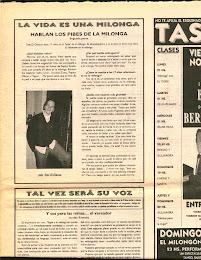"""Entrevista diario de tango """" El Tangauta"""""""