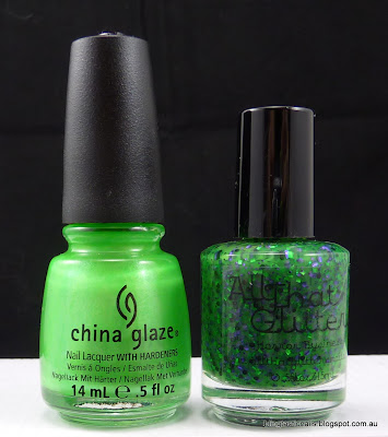 China Glaze I'm With the Lifeguard and All that Glitters Horror Business