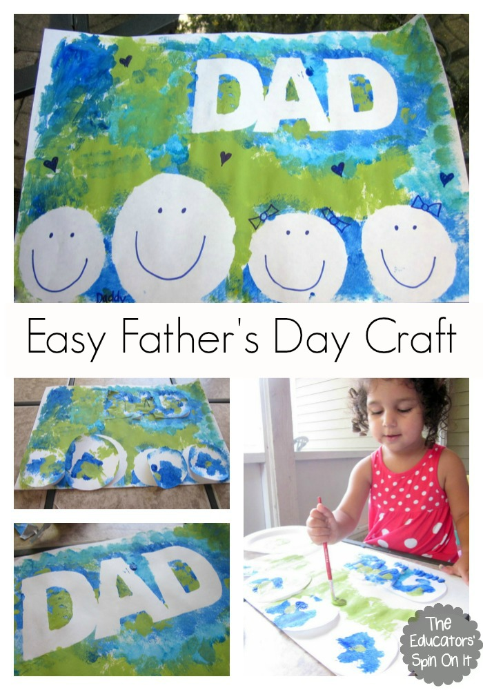 Easy Craft Ideas For Kids For Father Day Part - 41: Easy Fatheru0027s Day Craft With Kids