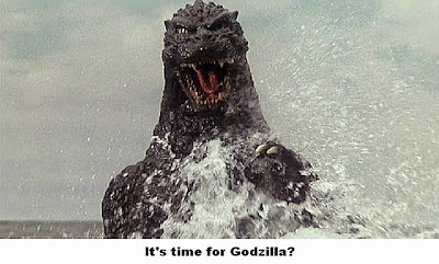 Godzilla coming back to do Tommy's bidding! LoL