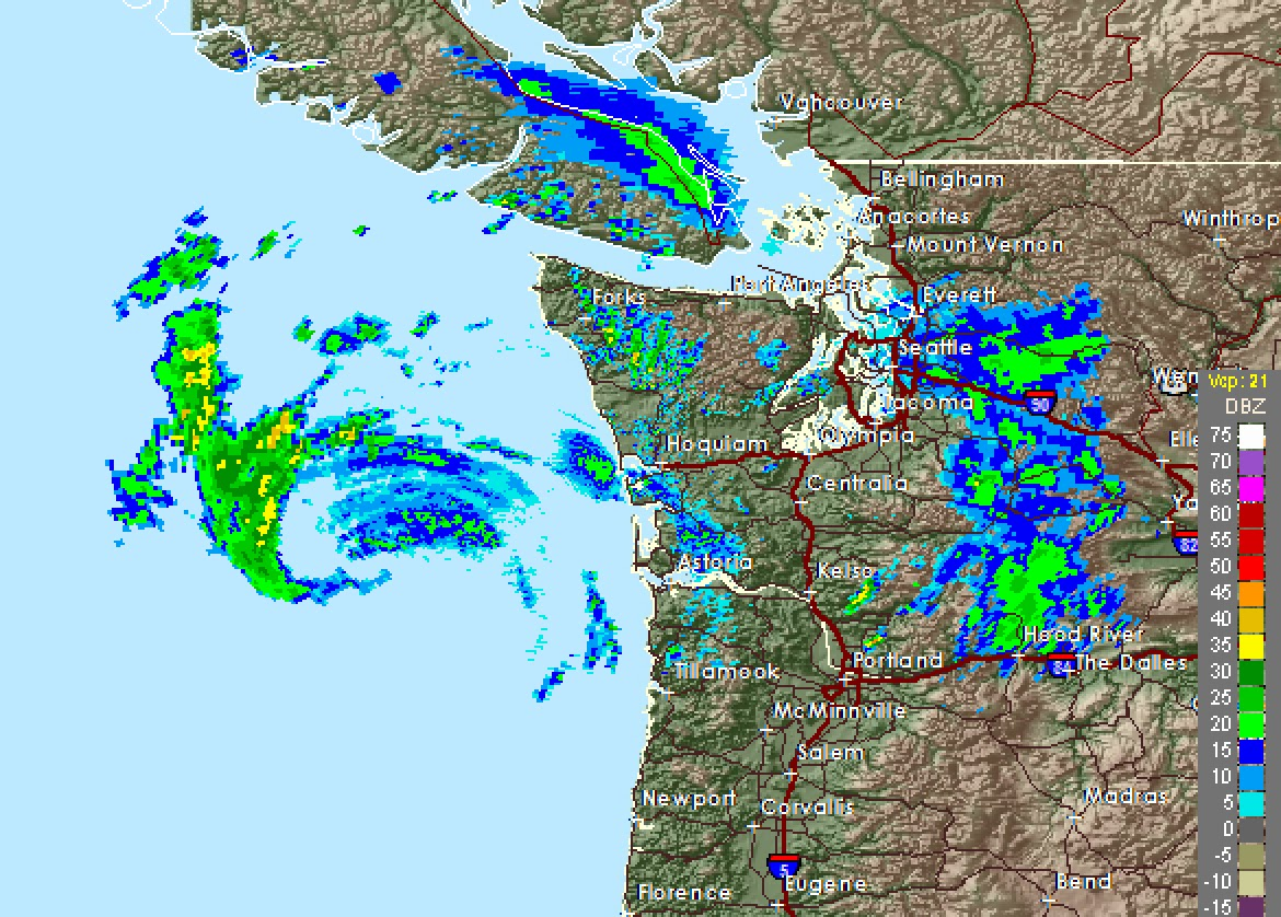 Cliff Mass Weather and Climate Blog The Coastal Radar Sees the