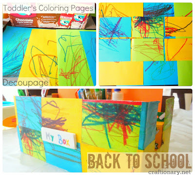 kids coloring back to school activity box