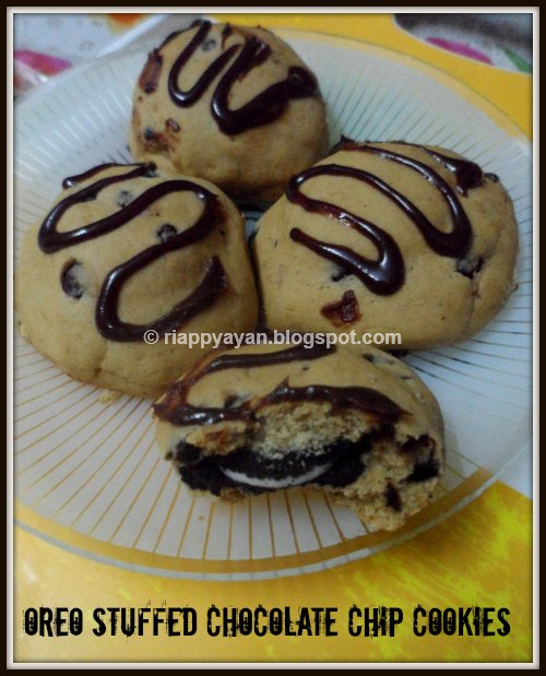 Oreo Stuffed Chocolate Chip Cookies - Recipe Junction