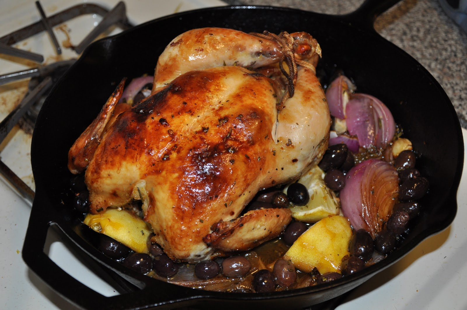Slice of Rice: Roasted Chicken with Olives, Lemon and Garlic