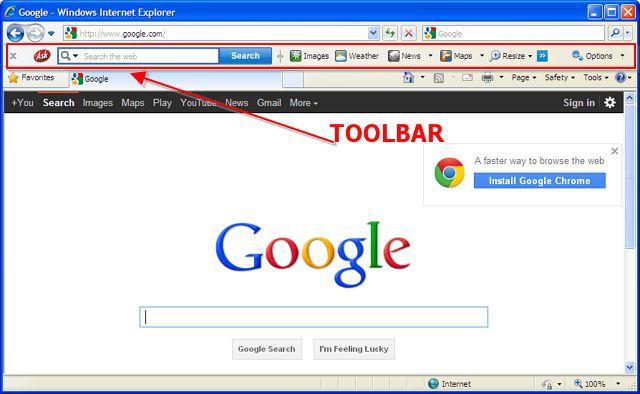 Muncul Toolbar yang Aneh di Browser