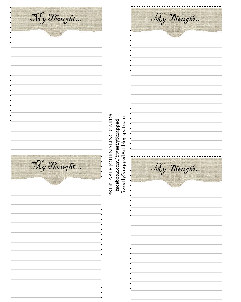 Clever image with free printable journal cards