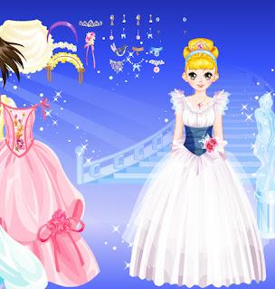 Juego de vestir a la princesa del palacio de hielo