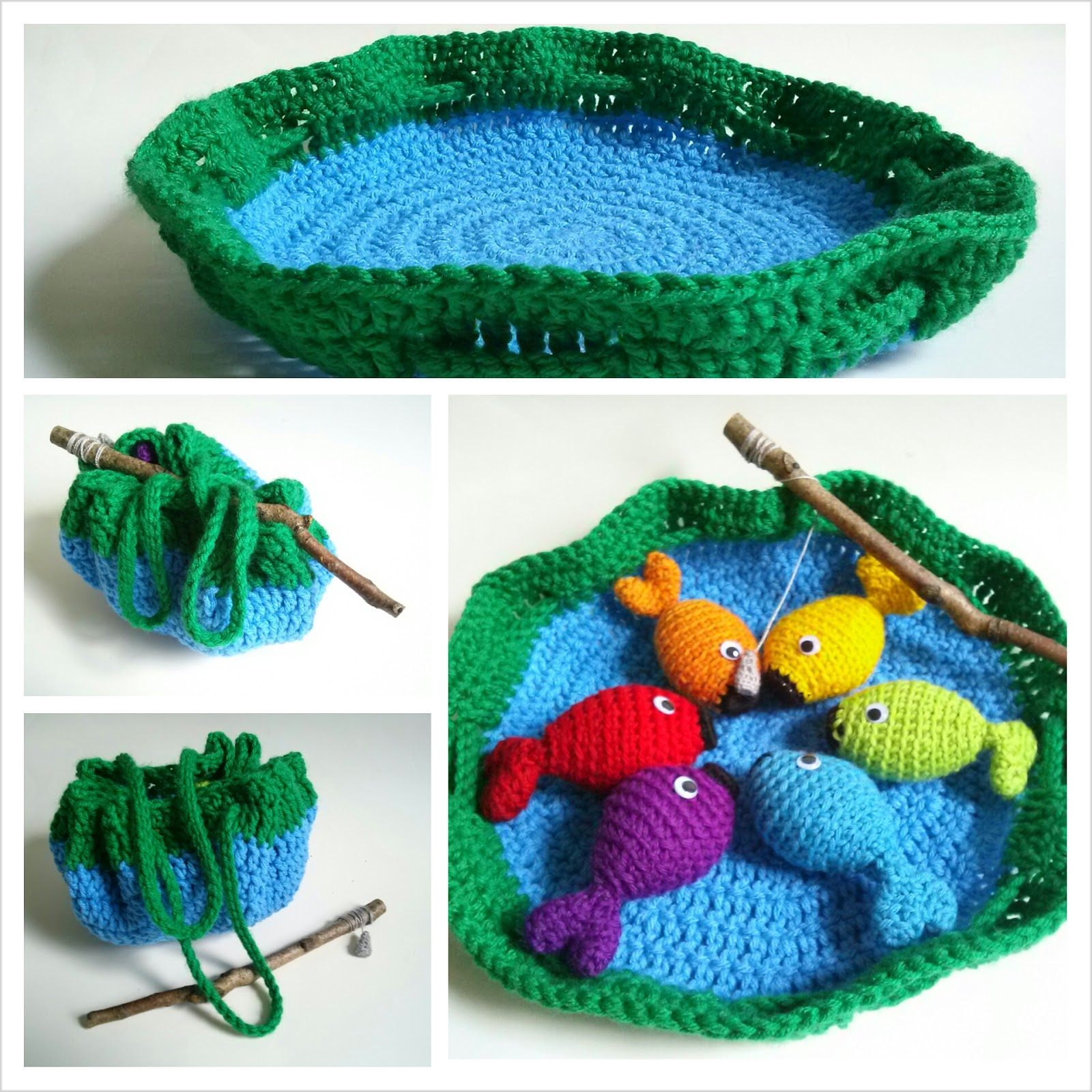 Free Crochet Patterns Games : Niccupp Crochet: Rainbow Fishing Game - Free Pattern