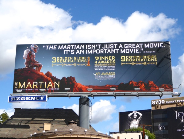The Martian awards billboard