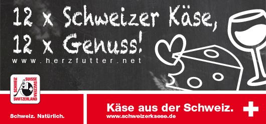 12 x Schweizer Käse, 12 x Genuss!