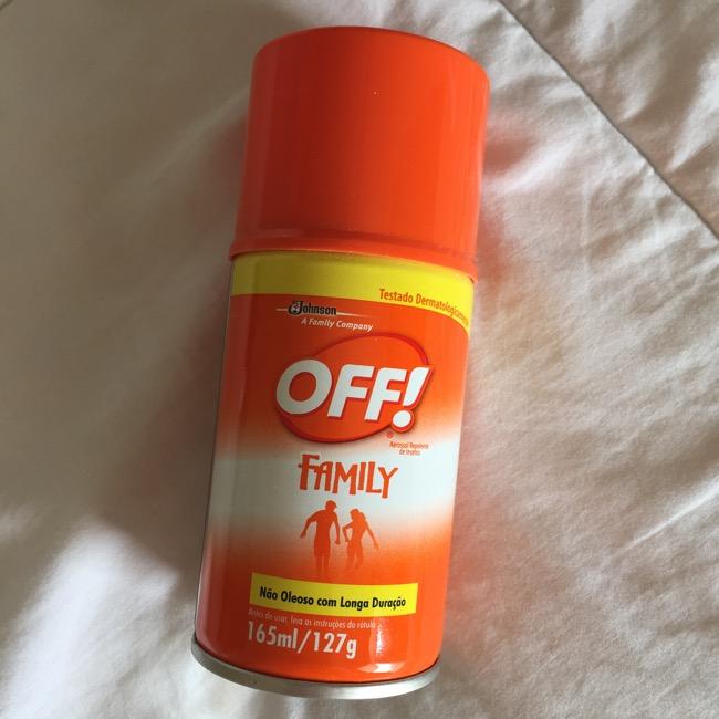 Off! Family Aerosol para combater Zica Virus e Aedes aegypti